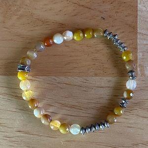 Jewelry - Gold yellow silver beaded bracelet